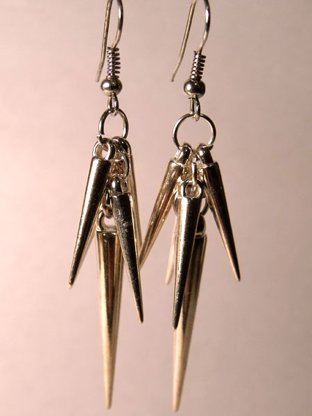 Silver Spikey Earrings