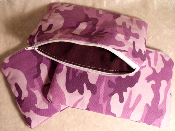 Purple Pink Camouflage Make-up Bag