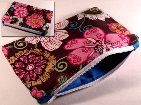 Summer Love Rose Bloom Floral Make-up Bag