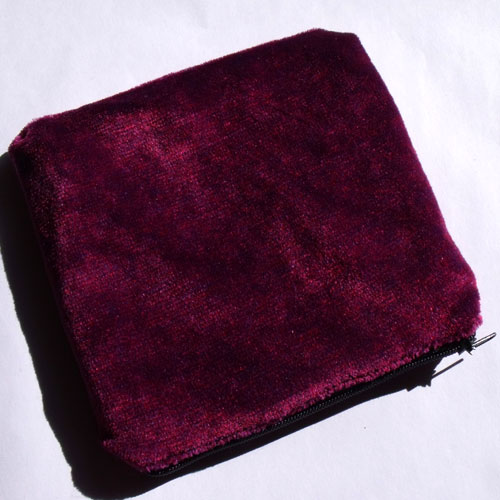 Dark Pink Purple Crushed Velvet Large Coin Purse