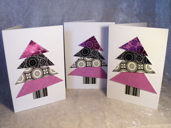 Triangle Tree Cards