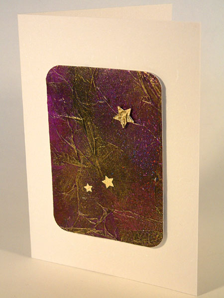 Purples, Blues & Gold Textured Gilt Card