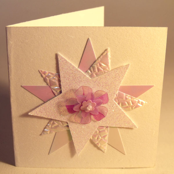 Pearly Glitter Stars Mini Card