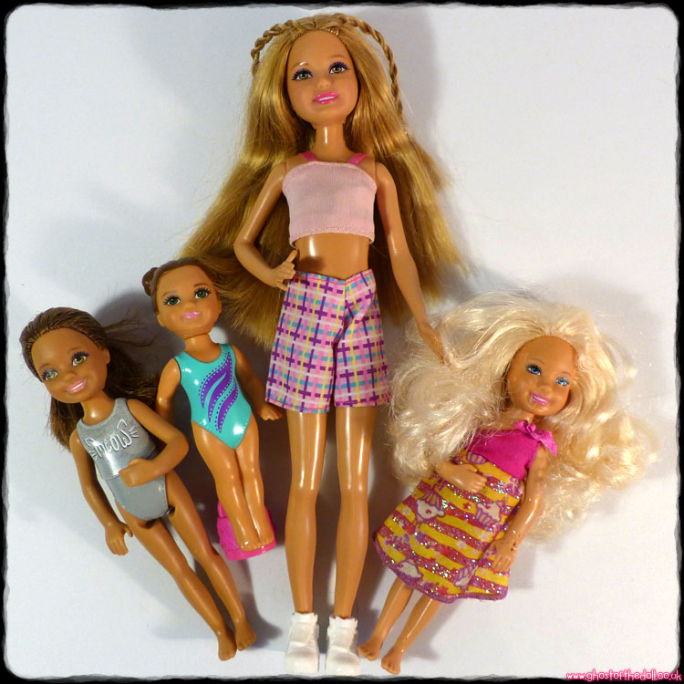 Barbie: Rare Stacie + Chelsea ~ 4 Doll Bundle [Mattel 2011-15]