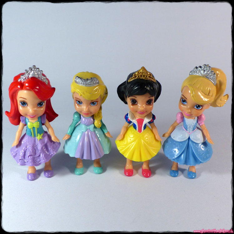 Disney Princess Mini Toddler ~ 4 Doll Bundle
