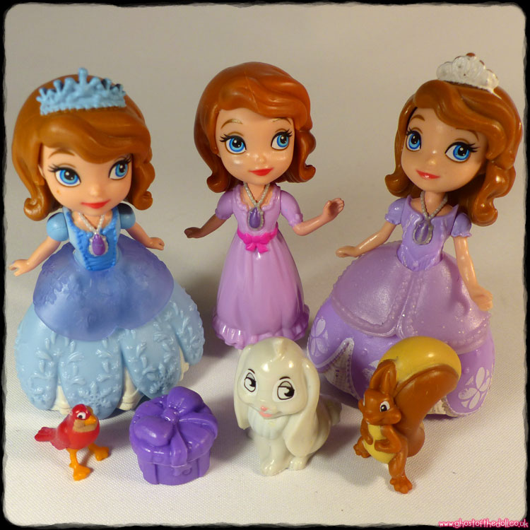 Disney: Sofia the First ~ 3 Minis Dolls + Animals (Mattel)