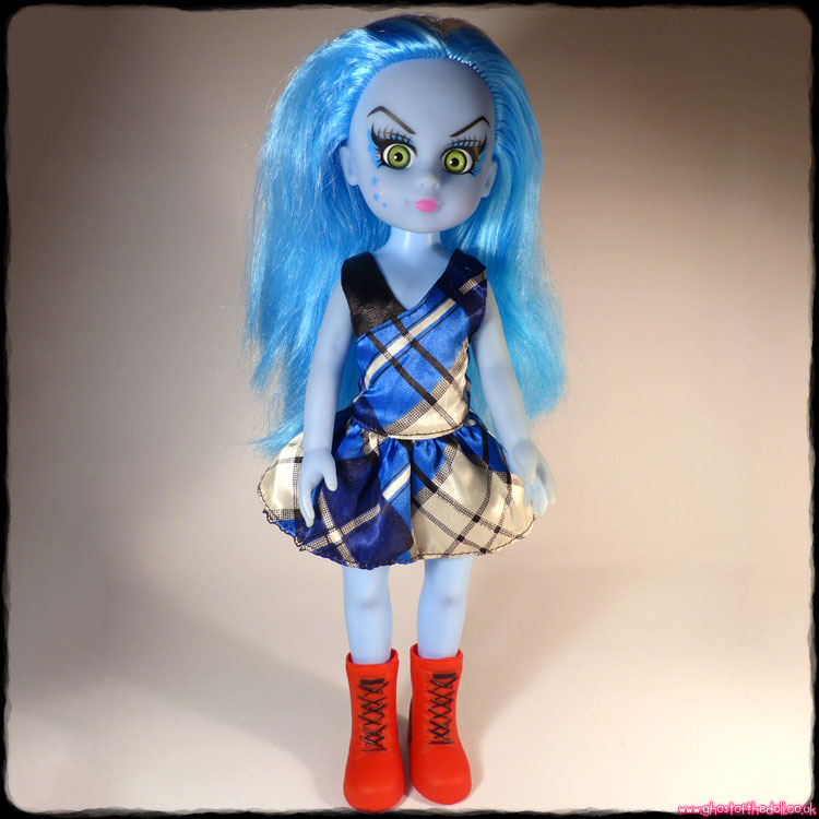 Punk Doll with Blue Hair & Body, Tartan Dress & Red Boots