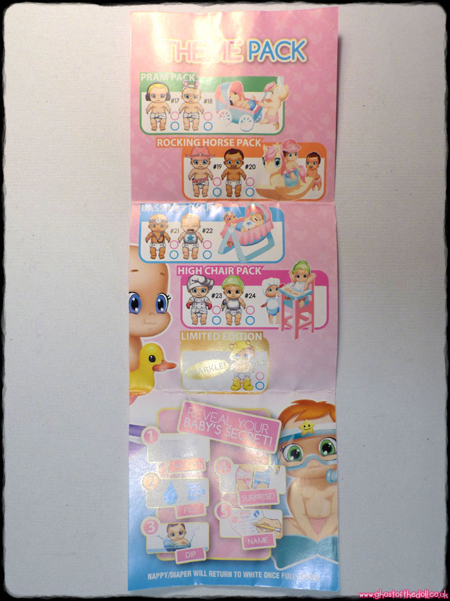 BABY SECRETS: Doll #3 + Bath Leaflet Birth Certificate (Zapf Creations 2016) - Click Image to Close
