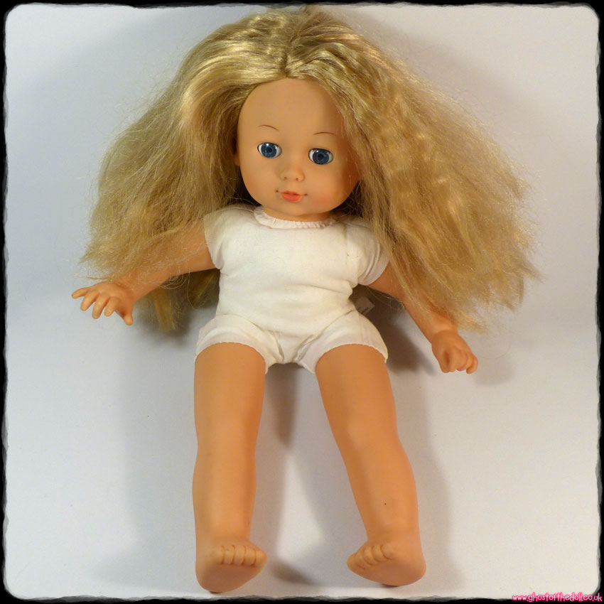 Blond Soft Bodied Doll with Blue Open/Close Eyes (Cititoy 1987)