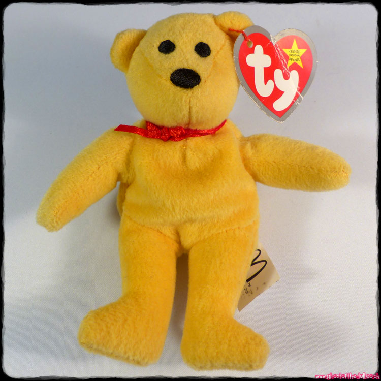 "Teenie Beanie Bears - ""Yazzie"" Yellow Bear (Ty McDonald's 2005)"