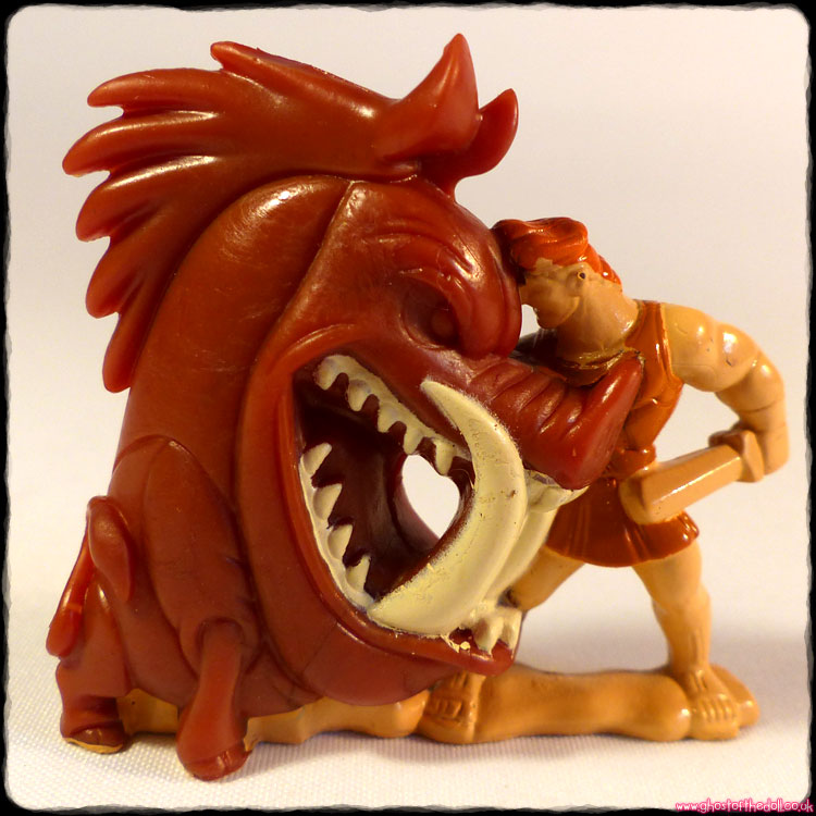 Hercules Fighting Erymanthian Boar - PVC Figure (Nestle 1997)