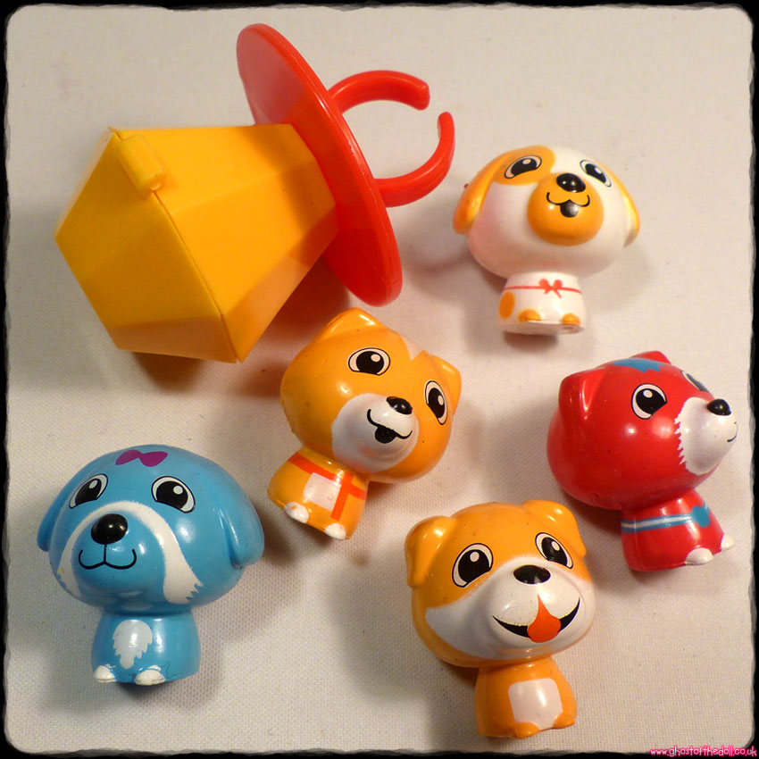 RING POP PUPPIES: Bundle of 5 Dog Figures + Ring (Topps 2018)