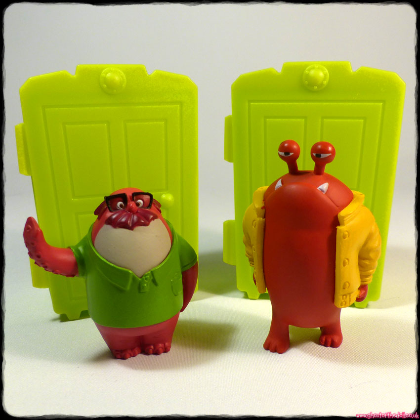 Monsters University: Slimy Figurines ~ Big-Red & Don Carlton (Disney/Pixar 2013) - Click Image to Close