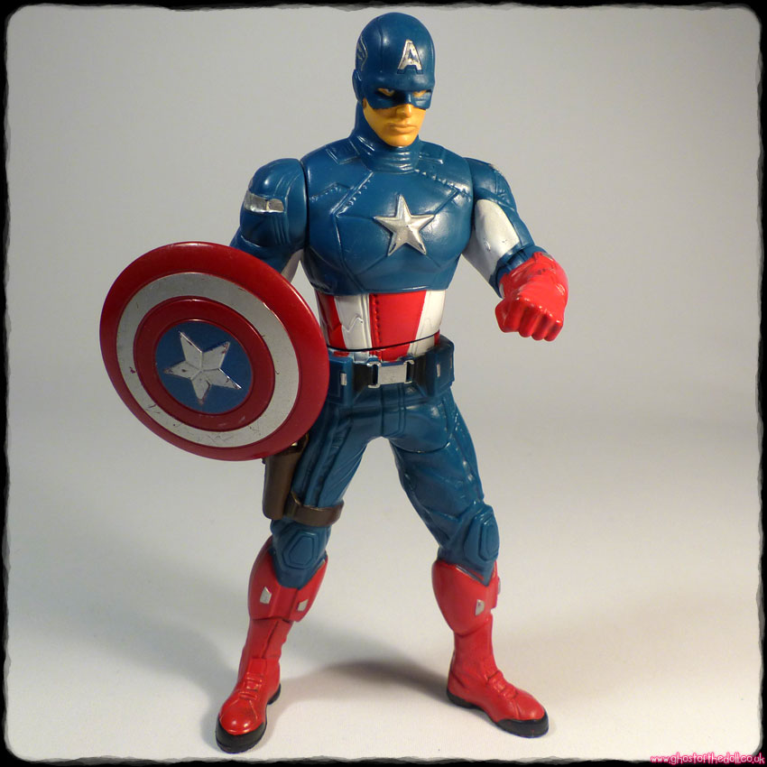 "Marvel ""CAPTAIN AMERICA"" Mighty Battlers ~ 6"" Action Figure (Hasbro 2011)"