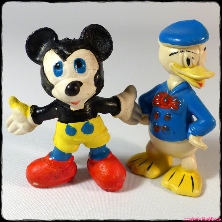 Disney: Disneykins - Mickey Mouse & Donald Duck (Marx 1960s)