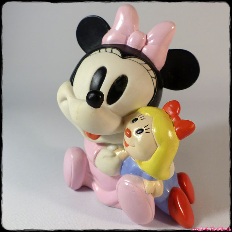 Disney: MINNIE MOUSE - Squeaky Rubber Baby Figure (1990s)