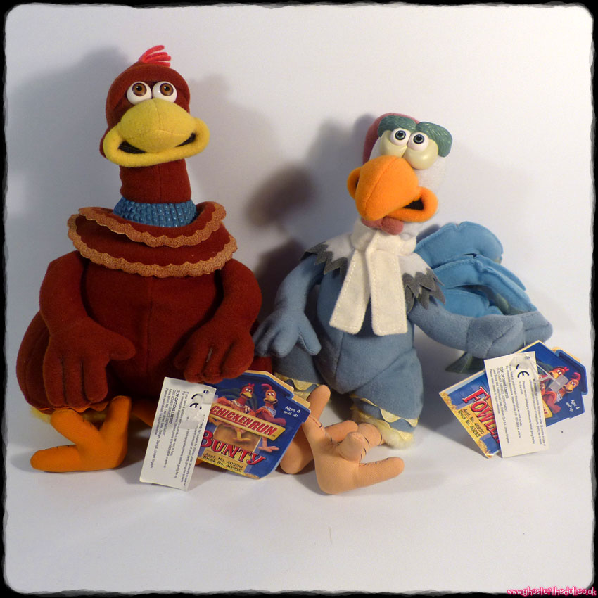 Chicken Run: Bunty & Fowler ~ Plush with Tags (Playmates/Dreamworks/Aardman 2000)