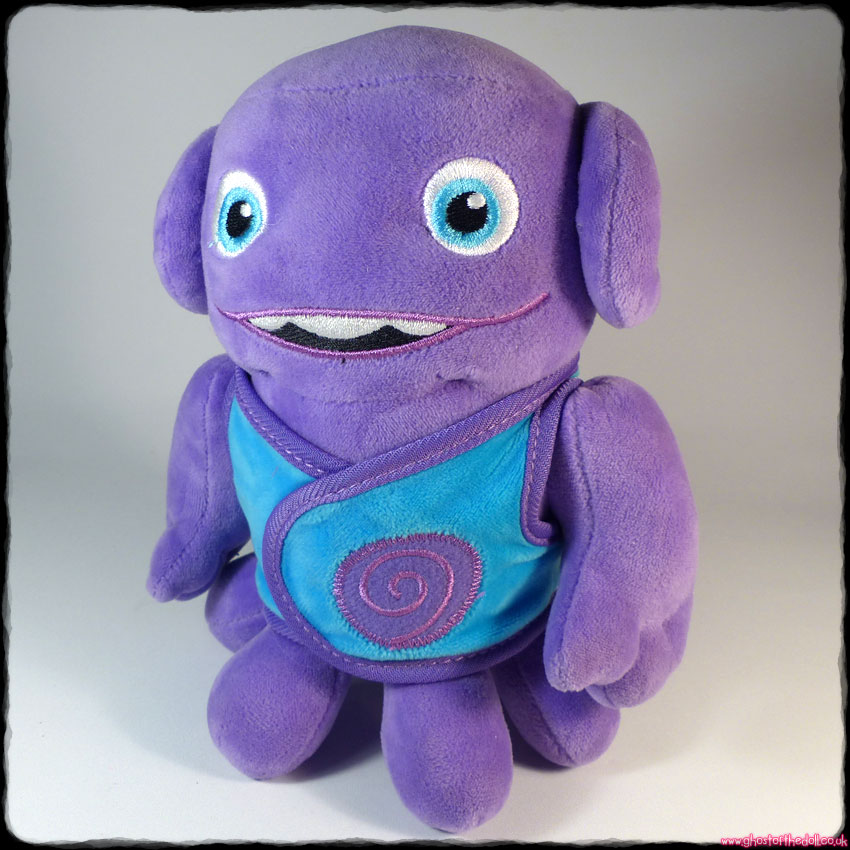 "HOME: ""Oh Boov"" ~ Plush Purple Alien 8"" Soft (DreamWorks 2015)"