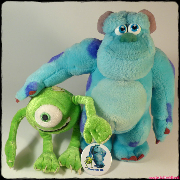 Monsters Inc: Sully & Mike Plush + FREE BADGE! Disneyland Paris (Disney/Pixar)