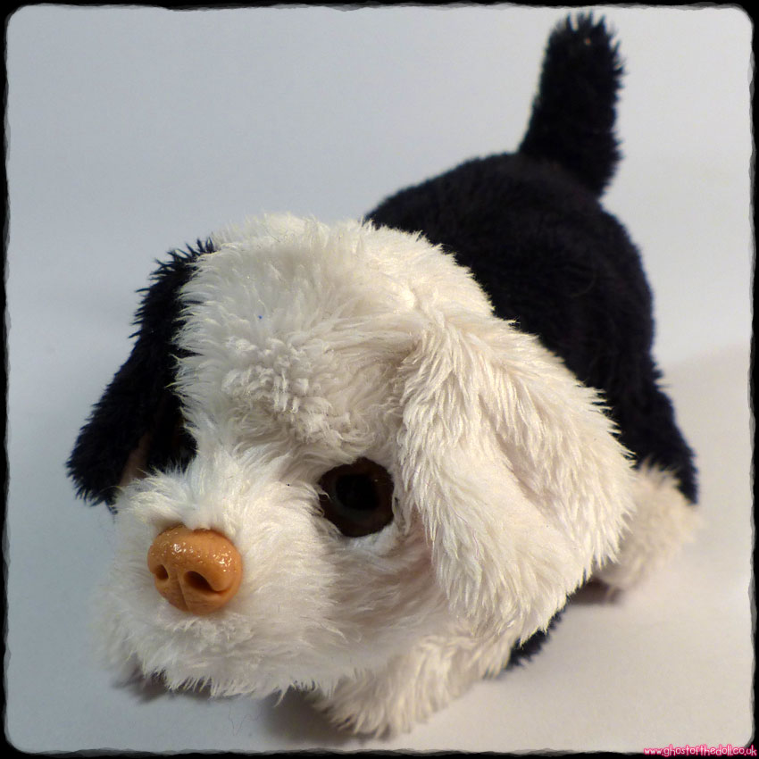 FURREAL FRIENDS: Snuggimals ~ Black White Puppy Electronic Dog (Hasbro 2009)