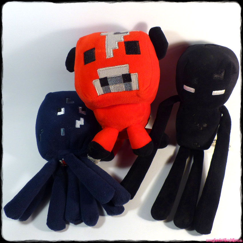 MINECRAFT: Enderman, Squid & Mooshroom ~ 3 x Plush (Mojang 2014)