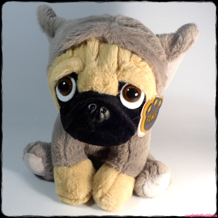"PAWS COLLECTION: Plush 8"" Pug Dog Puppy in Elephant Costume"