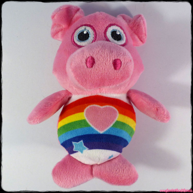 "Rainbow Pig ~ Fun Toys 6"" Plush Piggy (Ross Baker)"