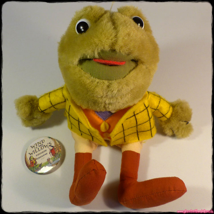 Wind In The Willows: Mr Toad ~ Plush Beanie + Free Badge! (Titan Toys 1995)