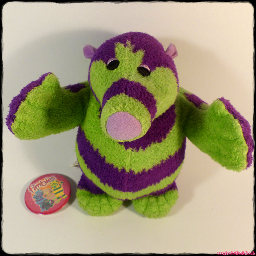 "FIMBLES ""Roly Mo"" ~ Plush 6"" + FREE BADGE! (Fisher-Price Mattel 2002)"