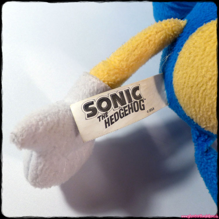 Sonic The Hedgehog Plush (Sega/Impact Innovations c.2007) - Click Image to Close