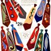 "Cutter Cravat ~ Neckwear Adverts [1951-1953] ""Artist Originals"""