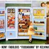 "Kelvinator ~ Kitchen Appliance Adverts [1954-1959] ""Foodarama"""