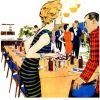 "Pepsi-Cola ~ Soda Adverts [1959-1960] ""The Sociables"" Illustrations"