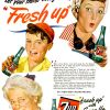 "Seven-Up ~ Soda Adverts [1943-1945] ""Fresh Up"""