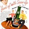 "Seven-Up ~ Soda Adverts [1946] ""Fresh Up"" Illustrations"