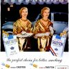 Tareyton [1955-1956] Cigarette Adverts ~ Twosome