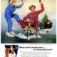 Textron ~ Men's Nightwear Adverts [1947-1949] Illustrations by Frederick Siebel