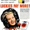 Lucky Strike [1949-1950] Cigarette Adverts ~ Luckies Pay More!