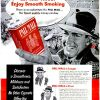 "Pall Mall ~ Cigarette Adverts [1953-1954] ""Smooth Smoking"""