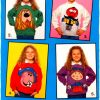 Intarsia Cartoon Sweater Knitting Patterns [1980s-1990's]