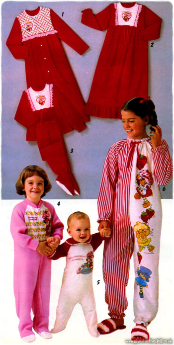 Children's Character Nightwear ~ Catalogues [1980's]   Retro Musings
