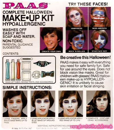 PAAS – Halloween Make-Up Kits ~ Packaging & Adverts [1980\'s ...
