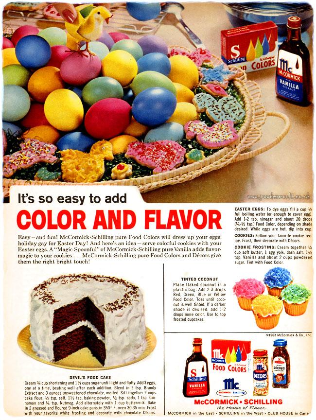McCormick-Shilling Egg Dye ~ Easter Adverts [1958-1963 ...