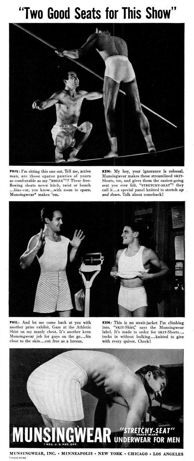 Munsingwear Men S Underwear Adverts 1939 1945 Retro Musings