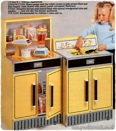 Toy Kitchen Sets Catalogues 1960 S 1980 S Retro Musings