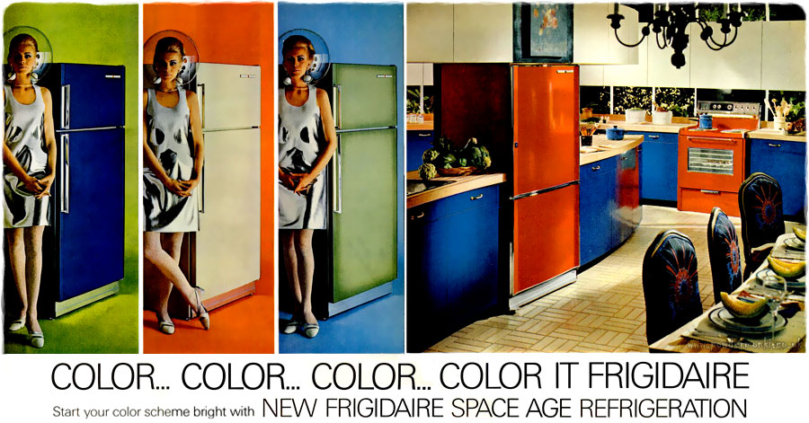 Frigidaire Space Age Refrigeration Adverts 1960 S