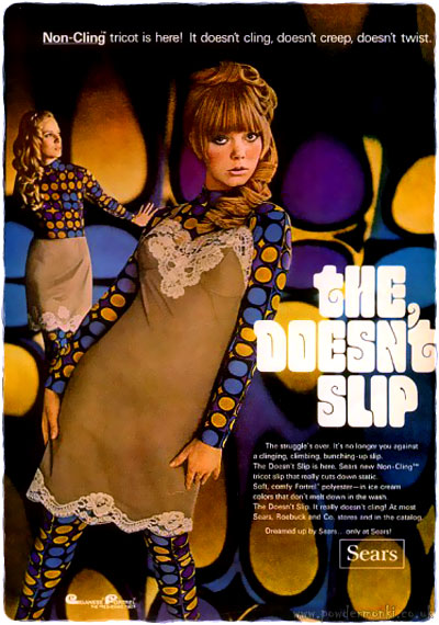 Sears Lingerie Adverts 1968 The Doesn T Slip Retro