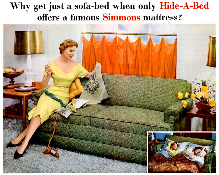 Simmons Hide A Bed Adverts 1940 S 1950 S Retro Musings
