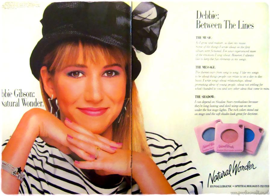 "Debbie Gibson ""Natural Wonder Cosmetics"" ~ Makeup Adverts"