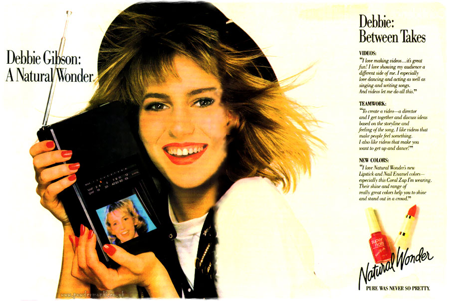 Debbie Gibson Natural Wonder Cosmetics Makeup Adverts 1980 S Retro Musings